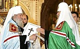 Patriarch Alexei II and Metropolitan Laurus (2007)